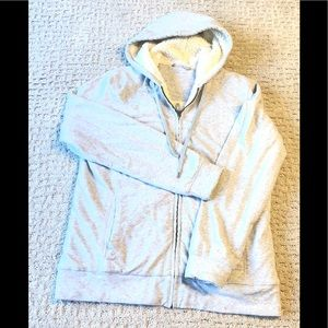 L.L. Bean Sherpa Lined Hoodie Size Small Gray